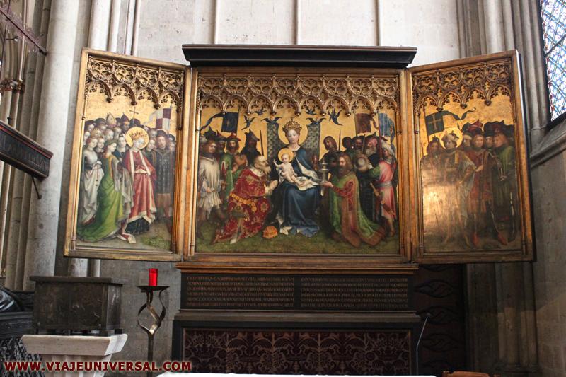 Altar De Los Reyes Magos En La Catedral De Köln O Colonia Alemania
