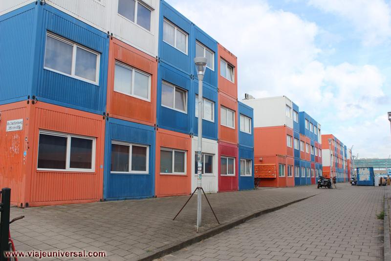 Barrio de contenedores de msterdam holanda - Contenedores para vivir ...